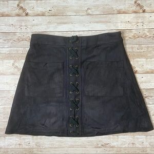 STORIA FAUX SUEDE SKIRT
